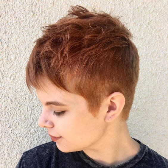 Pixie haircut style ideas for round face